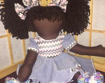 Custom Made chocolate Doll