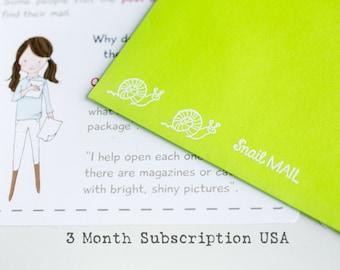 Monthly Subscription for Kids (United States) - 3 Months - Letter Subscription - Snail Mail for Kids