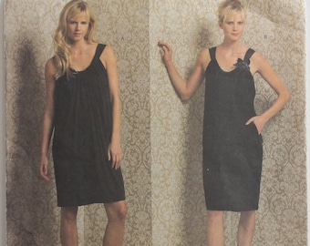 """Summer Dress by DKNY - 2000's- Vogue 1012  Uncut  Size 6-8-10-12  Bust  30.5-31.5-32.5-34"""""""