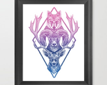 Wolfram Hart Animal Illustration