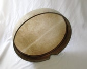 55cm Bendir with Sewn Skin Mahogany Wax Style Finish by KleoDrums