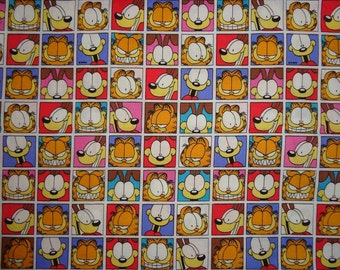 20 Inches Garfield/Odie Blocked Cotton Fabric
