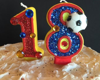 Any Two Digit Sports Theme Candle