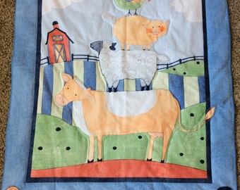 Down on the Farm Infant Quilt