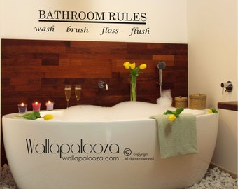 Bathroom Wall Art   Bathroom Wall Decal   Bathroom Decor   Bathroom Wall  Art   Bathroom