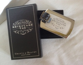 Luxury luggage tag  / Grants of Dalvey Scotland / Briefcase tag / Men's gifts / Father's Day gift / golf bag tag