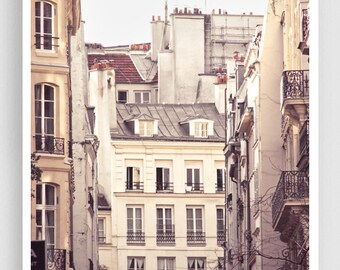 Paris photography - Rue Hérold  - Paris facade,Paris photo,Fine art photography,Paris decor,8x10,white,Fine art prints,Art Posters