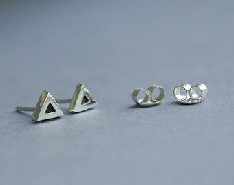 Silver stud earrings, handmade silver earrings, Stud earrings.