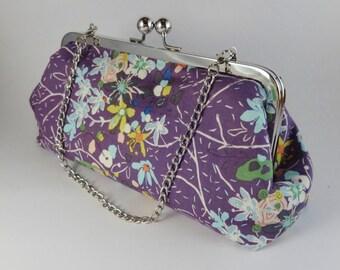 Elegant Lavender Botanical Clutch
