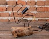 SUPER SALE - Woodworking Wooden modern lamp Desk work lamp Night lamp Personalized Solid wood lamp Walnut lamp Lighting Lampe Gift Idea
