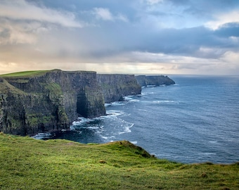 The Cliffs of Mohr Photo // Ireland Photography, County Clare, Hag's Head, O'briens Tower, The Burren, Fine Art Photography, Large Wall Art