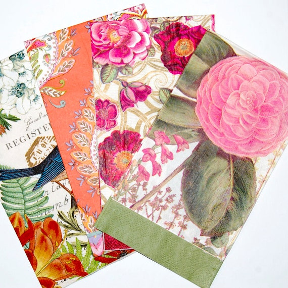 craft ideas with paper napkins floral decoupage napkin set 4 brilliant floral paper napkins 6335