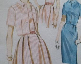Vintage Butterick 2633 Sewing Pattern Size 16 Dress and Jacket