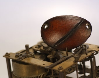 steampunk leather eye patch , big scratch  (made to order)