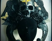 Large Midnight  Garden of Death Skull Headdress