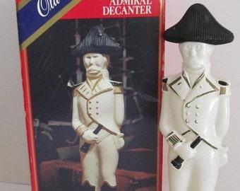 SALE Old Spice Admiral Decanter Old Spice After Shave Cologne Bottle with Original Box Barber Shop decor