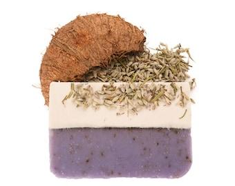 Lavender Coconut Soap, Handmade Soap, All Natural Soap, Soap Bar, Homemade Soap, Cold Process Soap, Olive Oil, Vegan Soap Natural Soap 4-5oz
