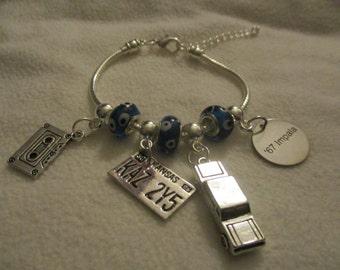 Supernatural inspired Impala European Charm Bracelet