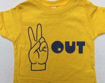 SALE! Peace Out Toddler or Kid's Short Sleeve T-Shirt