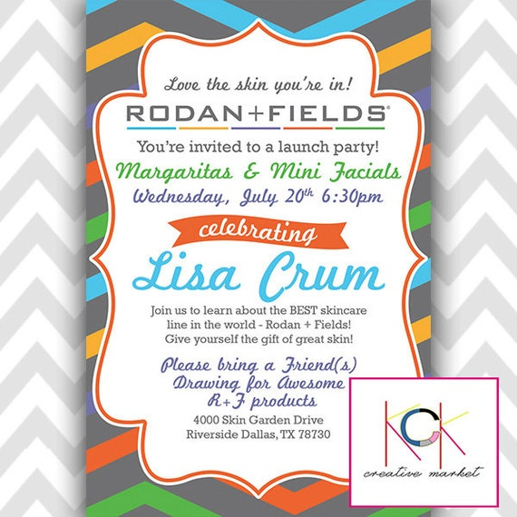 Customized Rodan and Fields Party or Event Invitation