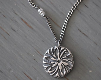 ON SALE MANDALA Collection:  Sterling Silver, Mandala, Botanical, Pendant, Charm, Infinity Necklace, PopOver, Long Necklace , Curb Chain, Yo