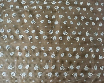 Lace Fabric Milk Silk Fabric with Skull Embroideried for 1 Yard