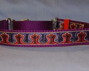 Purple and Red collar