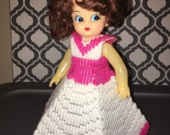 Pink Plastic Canvas Doll
