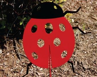 Ladybug Metal Art Yard Stake