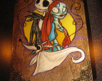 Jack and Sally Inspired Jewelry Box