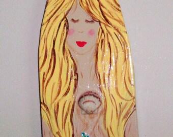 Free Shipping! Wall Decor,Beach Decor. Wooden Mermaid, mermaids
