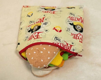 One Sandwich Bag, Reusable Lunch Bags, Waste-Free Lunch, Machine Washable, MInions, Sandwich Sacks, item #SS75