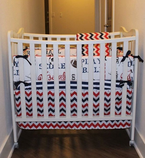4pc Mini Crib Bedding Set by LollipopBedding