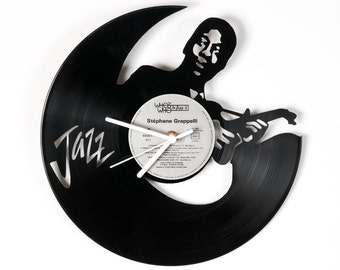 Vinyl clock Jazz guitarist