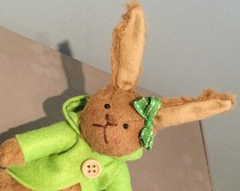 Pea - One of a Kind Miniature Artist Bear (Bunny)