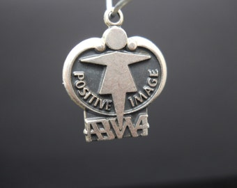 ABWA Positive Image Charm Sterling Silver American Business Womens Association 925 Vintage