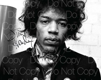 Jimi Hendrix signed guitarist guitar 8X10 photo picture poster autograph RP