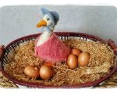 Jemima Puddle Duck. Beatrix Potter Nursery. Needle Felted Jemima Puddle Duck. Beatrix Potter Figurine. Jemima Puddleduck. Needle Felted Duck