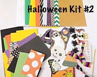 DIY Halloween Card Making Kit #2 - Kid's Card Making Kit, DIY Card Making Kit, Children's Activity Kits, Fall/Halloween Card Kit