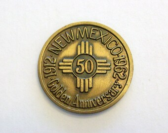 New Mexico golden anniversary Commemorative medal. 1912-1962. Coin.