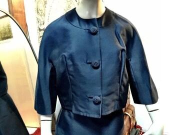 60s silk skirt suit