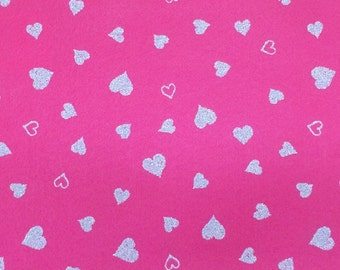 Twinkle Hearts Felt Sheets - 4 pcs - Valentine's Day - Rainbow Classic Eco Fi Craft Felt Supplies
