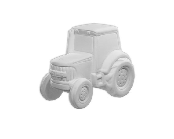 Tractor piggy bank ceramic bisque paintable pottery for Bisque ceramic craft stores