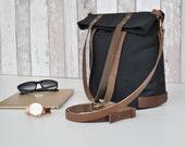 Schwarze CanvasTasche, Damen Handtasche, Schulter Tasche, Umhängetasche, UNISEX, wasserrerabweisend ,shopper, Handtasche, bag, Laptop Tasche