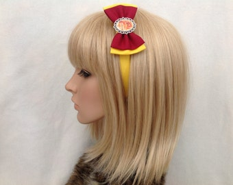 Harry potter gryffindor house crest headband hair bow rockabilly psychobilly pin up Slytherin hogwarts Ravenclaw hufflepuff girls ladies