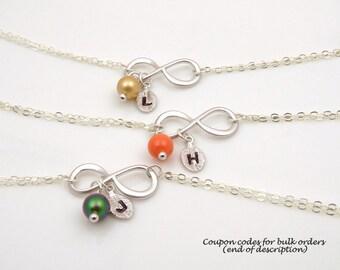 Personalized Bracelet for Women - Silver Friendship Bracelet - Bracelets for Bridesmaids - Bridesmaid Gifts Bracelets - Gifts for Girlfriend