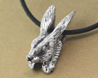 Rabbit Necklace, Rabbit Jewelry, Bunny Necklace, Bunny Jewelry, Rabbit Pendant, Bunny Rabbit, Easter Jewelry, Running Jewelry, Trail Jewelry