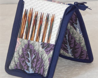 "SALE! 30% off 14 pair capacity Interchangeable knitting needle and crochet hook keeper for needles 3.5"" to 6.25"" in length, to size 8"