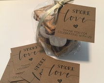 S'more Love Favor Tags Printable // S'mores Favor Kits // Smore Love Wedding Favor Tags // Personalized Favor Tags