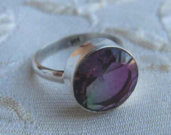 Mystic Pink Touraline Sterling Silver Rings 6 1/2 & 8
